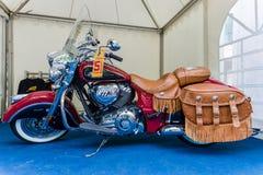 Motocyklu rocznika Indiański szef Obraz Royalty Free