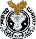 Motocyklu rowerzysty bieżny projekt Obrazy Stock