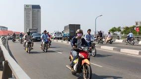 Motocyklu ruch drogowy w Ho Chi Minh mieście Obrazy Stock