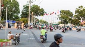 Motocyklu ruch drogowy w Ho Chi Minh mieście Zdjęcie Stock