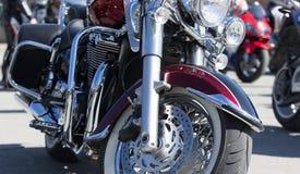 Motocyklu silnik chrom Harley Davidson fotografia royalty free