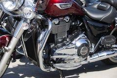 Motocyklu silnik chrom Harley Davidson zdjęcie stock