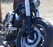 Motocyklu silnik chrom Harley Davidson obraz stock