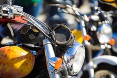 Motocyklu silnik chrom Harley Davidson zdjęcia royalty free