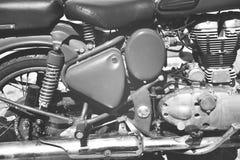 Motocyklu silnika zakończenie Obrazy Royalty Free