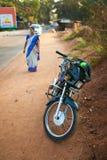 Motocyklu transport w India Zdjęcia Stock