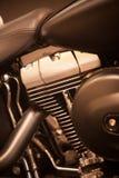 Motocyklu V bliźniaka silnik zdjęcie stock