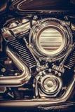 Motocyklu V bliźniaka silnik fotografia royalty free
