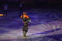 Motocyklu wyczynu kaskaderskiego przedstawienie Zdjęcie Royalty Free