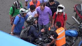 Motocyklu wypadek I Zdradzona osoba zdjęcie wideo