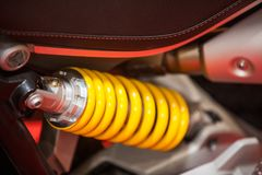 Motocyklu zawieszenia szczegół zdjęcie royalty free