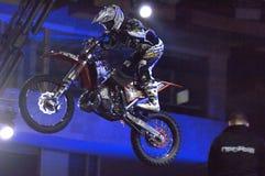 Motofreestiler landing Stock Photo
