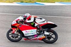 MotoGP的125cc的米格尔奥利维拉飞行员 库存图片
