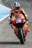 MotoGP的Dani Pedrosa飞行员 免版税库存图片
