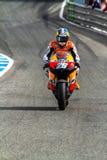 MotoGP的Dani Pedrosa飞行员 库存照片