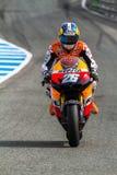 MotoGP的Dani Pedrosa飞行员 免版税库存照片