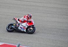 MotoGP车手安德里亚Dovizioso奥斯汀得克萨斯2015年 免版税库存照片