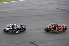 Motogp 125cc Racing Action Royalty Free Stock Images
