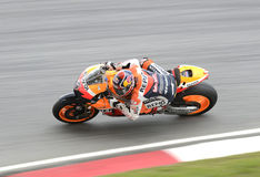 Motogp. SEPANG, MALAYSIA - FEB 3 : Repsol Honda team rider Andrea Dovizioso of Italy in action during the 2011 pre-season test at Sepang circuit February 3, 2011 Stock Images