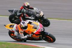 MotoGP 2009 - Andrea Dovizioso Stock Afbeeldingen