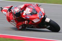 MotoGP 2009 - Dénoyauteur de Casey Images stock