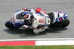 MotoGP 2009 - Jorge Lorenzo Imágenes de archivo libres de regalías