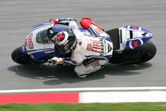 MotoGP 2009 - Jorge Lorenzo lizenzfreie stockbilder