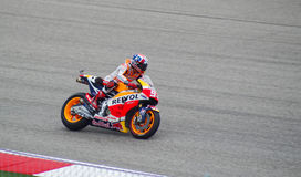 MotoGP Honda Marc Marquez rider Austin Texas 2015. Spanish MotoGP rider Marc Marquez wins race on his Repsol Honda in Austin Texas 2015 Royalty Free Stock Image