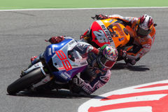 MotoGP. Jorge Lorenzo und Dani Pedrosa Lizenzfreie Stockbilder