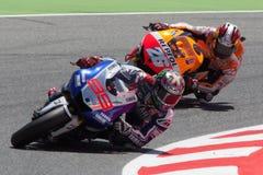 MotoGP. Jorge Lorenzo y Dani Pedrosa Imágenes de archivo libres de regalías