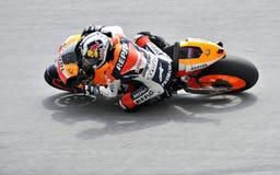 MotoGP malaisien 2009 : Dani Pedrosa Images libres de droits