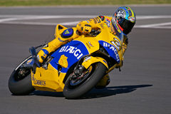 MotoGP racing, Max Biaggi Royalty Free Stock Photography