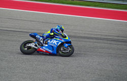 MotoGP rider Aleix Espargaro Austin Texas 2015. Spanish MotoGP rider Aleix Espargaro races in Austin Texas 2015 Royalty Free Stock Photo