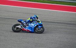 MotoGP rider Aleix Espargaro Austin Texas 2015. Spanish MotoGP rider Aleix Espargaro races in Austin Texas 2015 royalty free stock photo