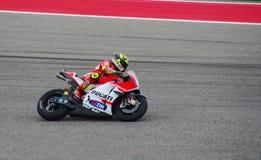MotoGP rider Andrea Iannone Austin Texas 2015. Italian Ducati MotoGP rider Andrea Iannone races in Austin Texas 2015 stock photo
