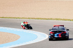 MotoGP safety car and pilot Royalty Free Stock Images