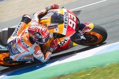 MotoGP Spanje, in Jerez Stock Foto's