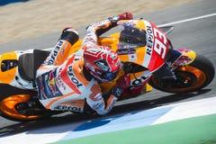 MotoGP Spanje, in Jerez Royalty-vrije Stock Afbeeldingen