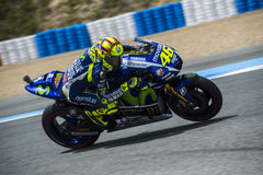 MotoGP 2015: Valentino Rossi Royalty Free Stock Photography