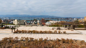 Motomachi park with Hakodate cityscape view Royalty Free Stock Images