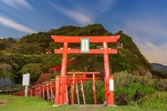 Motonosumi Inari Shrine. In Yamaguchi Prefecture, Japan. (Sign reads Stock Photos