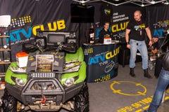 Motopark-2015 (BikePark-2015) Der Ausstellungsstand des ATV-Vereins Stockfotos