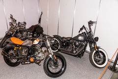 Motopark-2015 (BikePark-2015) Der Ausstellungsstand mit Motorrädern Stockfotos