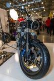 Motopark-2015 (BikePark-2015) Der Ausstellungsstand mit Motorrädern Lizenzfreies Stockfoto