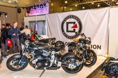 Motopark-2015 (BikePark-2015) Der Ausstellungsstand mit Motorrädern Lizenzfreies Stockbild