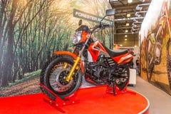 Motopark-2015 (BikePark-2015) Der Ausstellungsstand mit Motorrad Rennläufer-Förster RC200LT Stockfotos