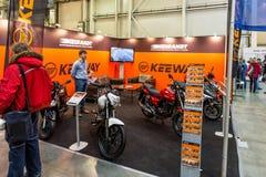 Motopark-2015 (BikePark-2015) Der Ausstellungsstand von Brandt Stockbilder