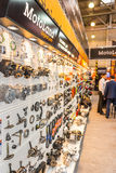 Motopark-2015 (BikePark-2015) Der Ausstellungsstand von MotoLand Lizenzfreie Stockbilder
