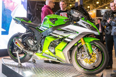 Motopark-2015 (BikePark-2015) Der Ausstellungsstand von Pandora Lizenzfreie Stockfotos