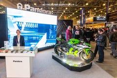 Motopark-2015 (BikePark-2015) Der Ausstellungsstand von Pandora Stockbild